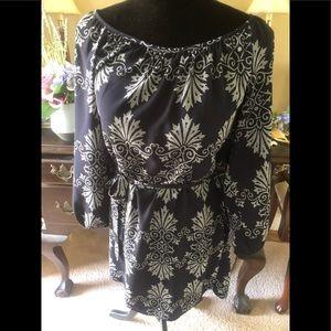 Forever 21 dress with belt; size Med., navy